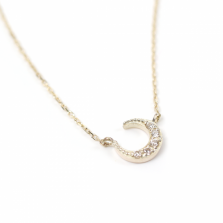 Diamond Moon Necklace | K10YG