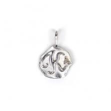 White Gold Initial Charm【K】 | K10WG