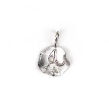 White Gold Initial Charm【A】 | K10WG