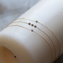 Triple Nudy Diamond Bracelet | K10YG