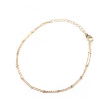 Glitter Chain Strand Bracelet | K10YG