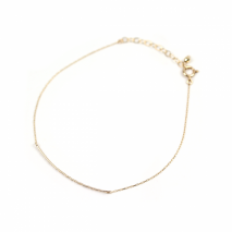 Sideways Bar Bracelet | K10YG