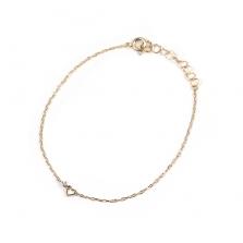 Heart Motif & Diamond Bracelet | K10YG