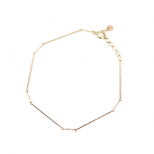 Straight Bar Bracelet | K10YG