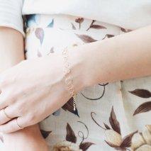 Square Chain Bracelet   K10YG
