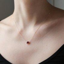 Rhodolite Garnet Necklace   K10YG