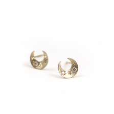 Crescent Moon Pierce | K10YG