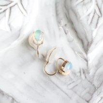Oval Opal Earring  | K10YG