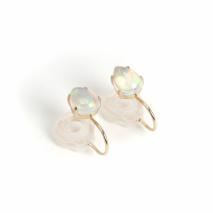 Drop Opal Earring    K10YG