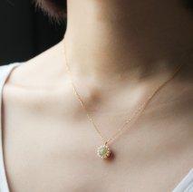 Opal & Pearl Flower Necklace   K18