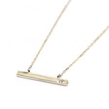 Bar Necklace | K10YG