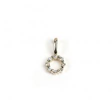 Tiny Diamond Circle Charm | K10YG