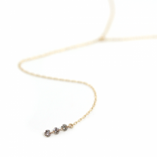 Nudy Diamond Y Necklace 0.1ct | K10YG
