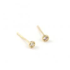 Bazel Set Diamond Pierce 0.1ct   K18