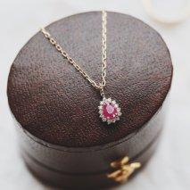 Ruby & Diamond Necklace   K10YG