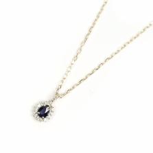Sapphire & Diamond Necklace | K10YG