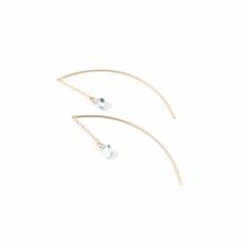 Amethyst & Aquamarine Threader | K10YG