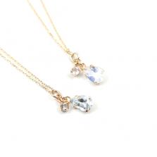 Aquamarine / Moonstone Necklace | K10YG