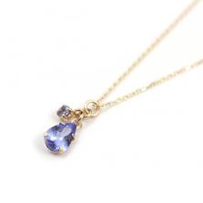 Tanzanite Teardrop Necklace | K10YG