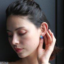 Chalcedony & Blue Agate Rough Cut Pierce | K10YG