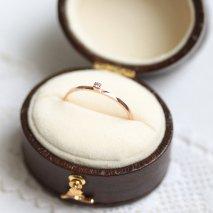 Diamond Stack Ring | K10PG