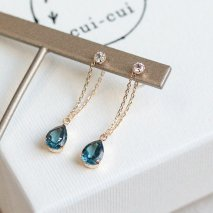 London Blue Topaz & White Topaz Pierce | K10YG