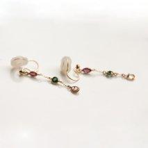 Tricolor Earring | K10YG