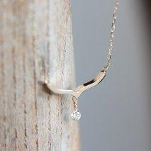 Nudy Diamond Necklace 0.05ct   K10YG