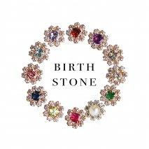 Birthstone & CZ Flower Pierce   K10YG