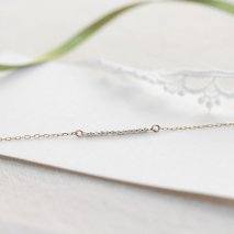 Tiny Diamond Bracelet | K10YG