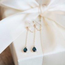 London Blue Topaz Earring | K10YG
