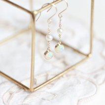 Opal & Pearl Hook Pierce | K10YG