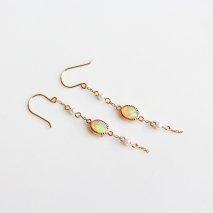 Opal & Pearl Long Pierce | K10YG