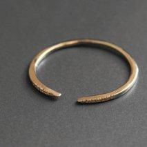 Crescent Moon Diamond Ring | K10YG