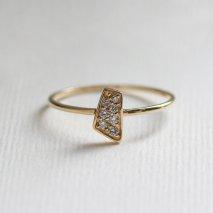 Motif Diamond Ring | K18