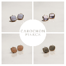 Cabochon Pierce | K10YG