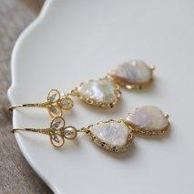 Crystal & Pearl Hook Pierce