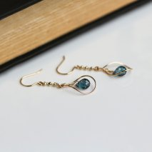 London Blue Topaz Hook Pierce | K10YG