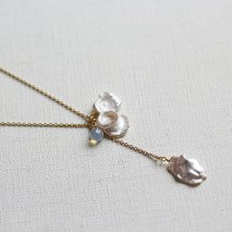 Crystal & Pearl Necklace[SG]