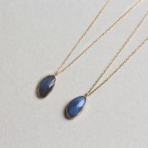 Blue Opal / Labradorite Necklace | K10YG