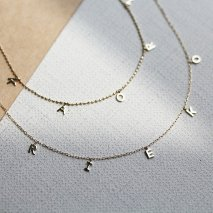 10th Original Name Necklace ボールチェーン【 K10YG 】