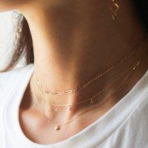 10th Original Name Necklace 小豆チェーン【 K10YG 】