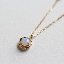 Opal & Diamond 0.04ct Necklace | K10YG