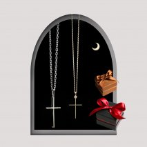 Cross Pair Necklace | K10YG/SV925