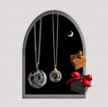 Coin Pair Necklace | K10YG/SV925