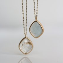 Milky Aquamarine /Rutile Quartz Necklace | K10YG <img class='new_mark_img2' src='https://img.shop-pro.jp/img/new/icons14.gif' style='border:none;display:inline;margin:0px;padding:0px;width:auto;' />