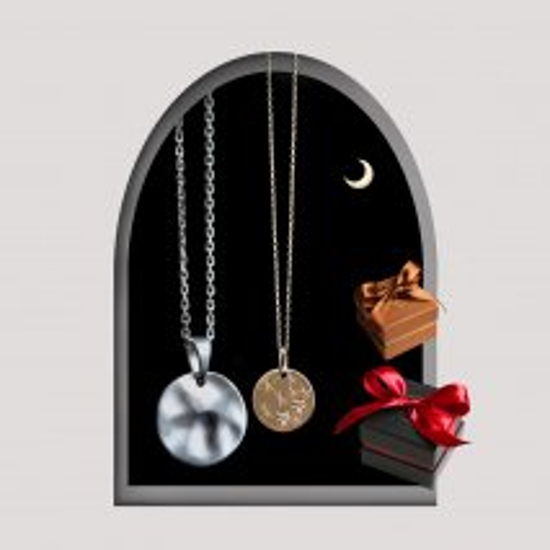 Star Plate Pair Necklace | K10YG/SV925〈WEB限定〉
