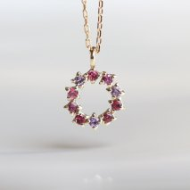 Pink Stone Necklace | K10YG<img class='new_mark_img2' src='https://img.shop-pro.jp/img/new/icons14.gif' style='border:none;display:inline;margin:0px;padding:0px;width:auto;' />