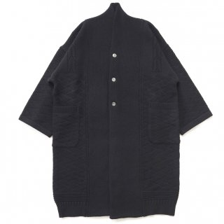 Botayuki Knit Coat / BLACK