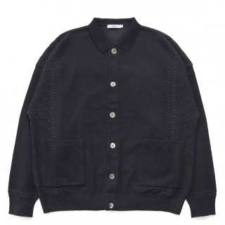 Sazanami Collar Cardigan / BLACK